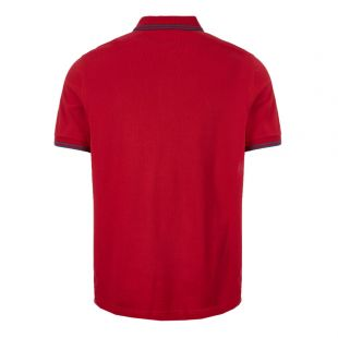 Twin Tipped Polo Shirt - Red / Navy