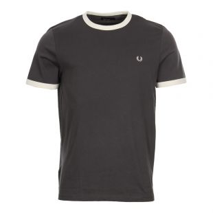 Fred Perry Ringer T-Shirt | Charcoal M3519-491