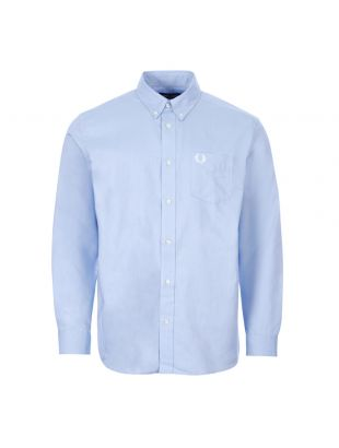 fred perry shirt button down | M8501 BLU light smoke blue