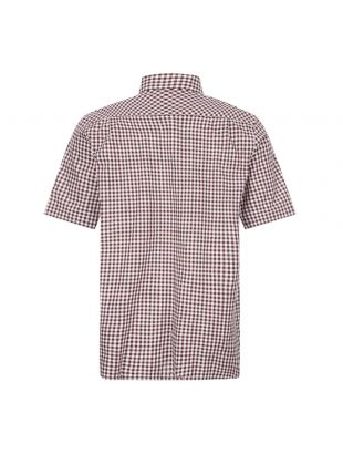 Short Sleeve Shirt Gingham - Mahogany