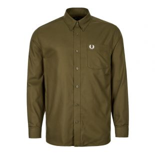 Fred Perry Oxford Shirt | M7550 G78 Dark Thorn / Green