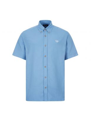 fred perry short sleeve shirt overdyed M8603 J86 riviera blue