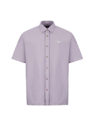 fred perry short sleeve shirt overdyed M8603 K49 lavendar ash