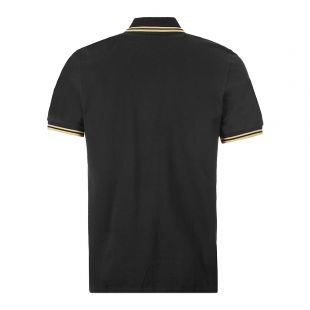 Twin Tipped Polo Shirt – Black / Champagne