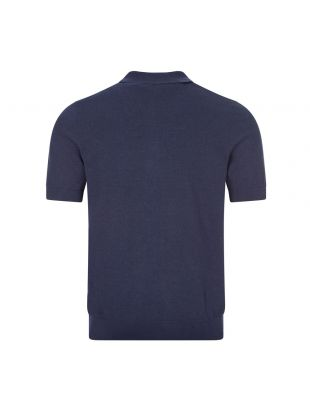 Knitted Polo - Dark Carbon Stripe