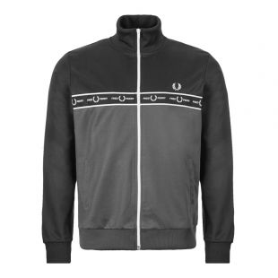 Fred Perry Track Jacket Taped   J7526 491 Charcoal
