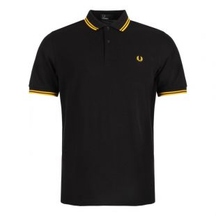 fred perry twin tipped polo, black. m3600 506