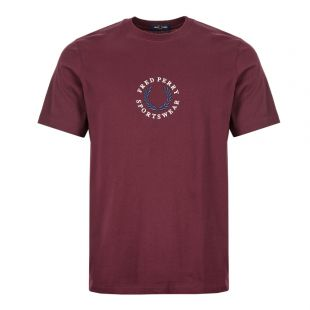 fred perry t-shirt M6621 799 mahogany