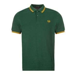 Fred Perry Twin Tipped Polo Shirt | M3600 J26 Ivy / Gold