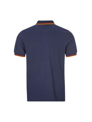 Polo Shirt Twin Tipped - Navy / Red / Amber
