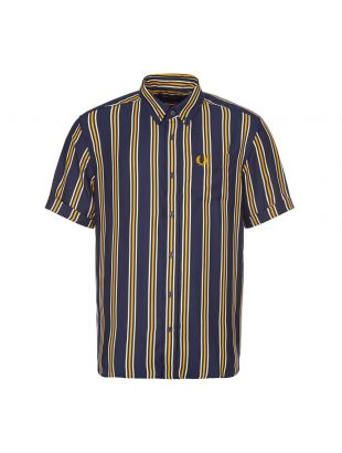 Fred Perry Short Sleeve Shirt | M9550 266 Carbon Blue Stripe