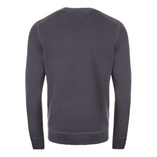 Waffle Knit Sweatshirt - Charcoal