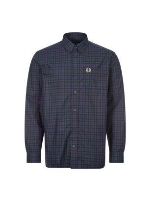 Fred Perry Tartan Shirt Winter | M9509 266 Carbon Blue