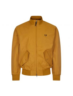 Fred Perry Zip Jacket Check Lined | Dark Caramel