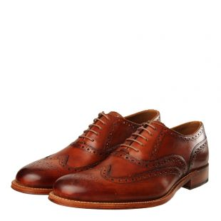 Dylan Brogue - Handpainted Tan