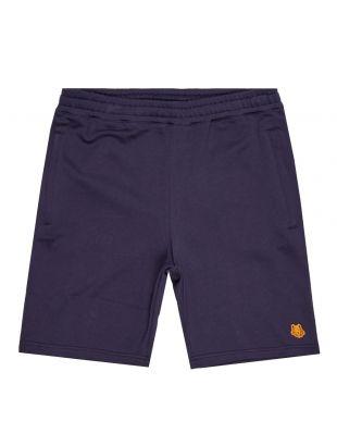 kenzo sweat shorts tiger crest navy