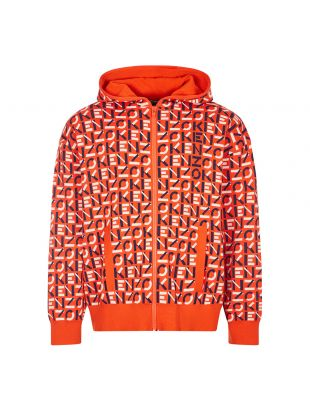 Kenzo Zipped Hoodie | Deep Orange