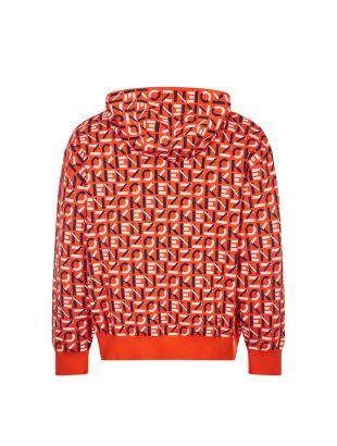 Zipped Hoodie - Deep Orange