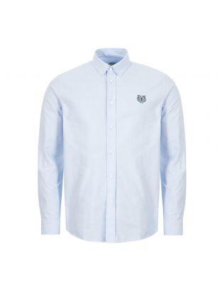 kenzo shirt long sleeve logo FA44CH4001LD 63 blue