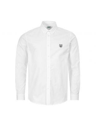 kenzo button down shirt | FA55CH4001LB 01 white