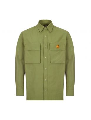 Kenzo Moleskin Shirt | FB55CH5039SA 49 Green | Aphrodite