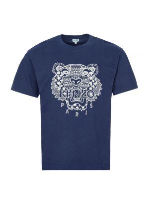 kenzo t-shirt logo FA55TS0854YK 77 navy