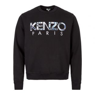 Kenzo Sweatshirt   F965SW000 4MD Black / Blue