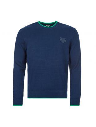 kenzo sweatshirt tiger crest | FA55PU2023AB 77 navy