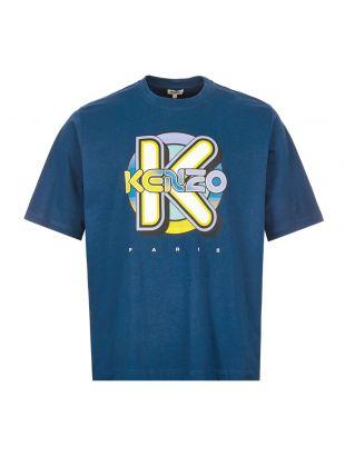 kenzo t-shirt wetsuit oversize | FA55TS5054SH 73 blue