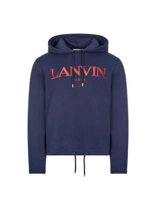 Lanvin Embroidered Hoodie | Navy