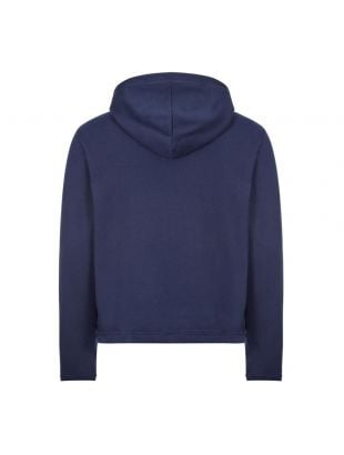 Embroidered Hoodie - Navy