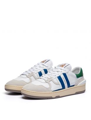 Tennis Low Top Sneakers - White / Blue / Green