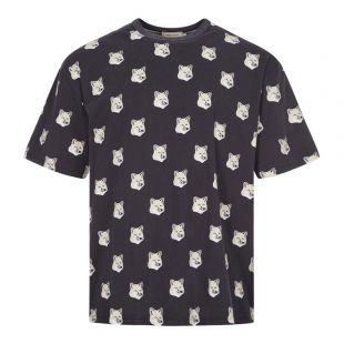 Maison Kitsune T-Shirt Fox Head | EU00139KJ0010 BLK Black