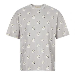 Maison Kitsune T-Shirt Fox Head | EU00139KJ0010-LG Grey