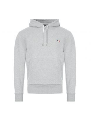 maison kitsune hooded sweatshirt | AU00307K M0001 GRM grey