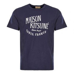 Maison Kitsune Polo Shirt AM00100K J0008 NA Navy