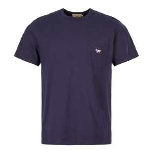Maison Kitsune T-Shirt AM00102K J0010 NA Navy