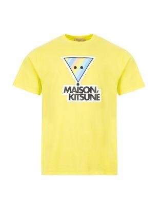 Maison Kitsune T-Shirt Rainbow | EM00159K J0010 LE Lemon