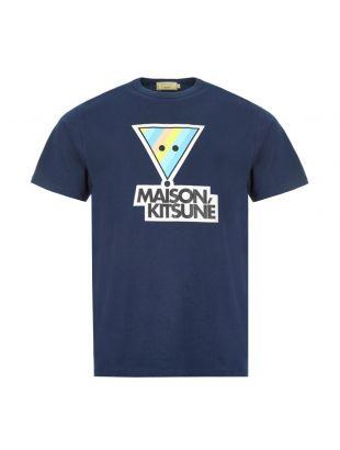 Maison Kitsune T-Shirt Rainbow | EM00159K J0010 NA Navy