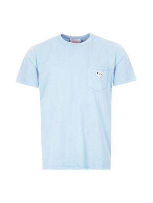 maison kitsune t-shirt pocket | EM00147K J0008 LB blue