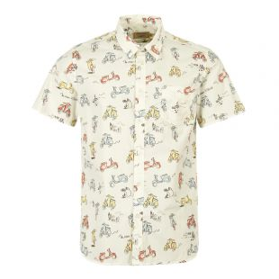 Maison Kitsune Short Sleeve Shirt CM00414W C4001 MUP In Multi