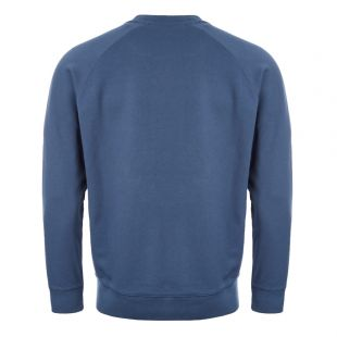 Sweatshirt Fox Patch – Petrol Blue