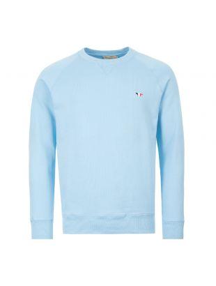 maison kitsune sweatshirt | EM00344K M0002 LB blue