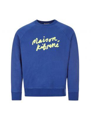Maison Kitsune Sweatshirt , FM00355KM0002 RB Blue , Aphrodite 1994