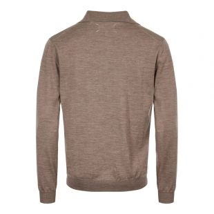 Long Sleeve Polo – Taupe
