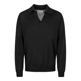 Maison Margiela Long Sleeve Polo | S50GL0003 S16789 900 Black