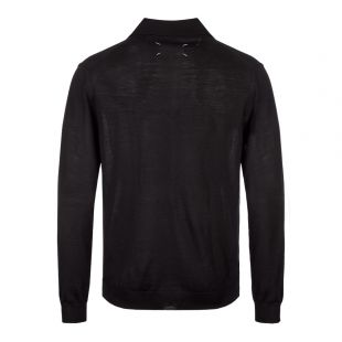 Long Sleeve Polo – Black