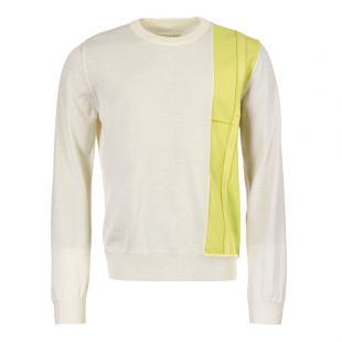 maison margiela jumper S50HA0867 S16609 001F white/lime