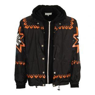 Maison Margiela Patterned Sweatshirt Bomber Jacket S50HG0002 S25279 Black
