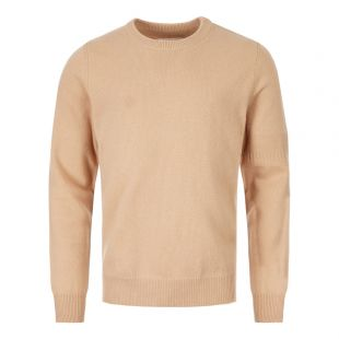 Crew Neck Sweater - Beige